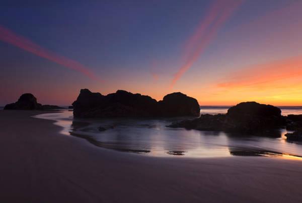 Cannon Beach Photograph - Splitting The Heavens by Mike  Dawson