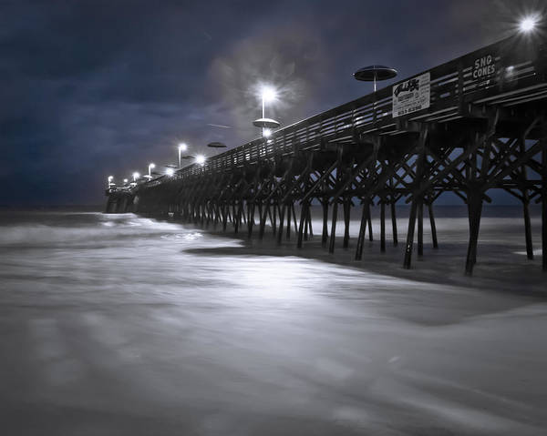 Art Print featuring the photograph Spooky Pier by Francis Trudeau