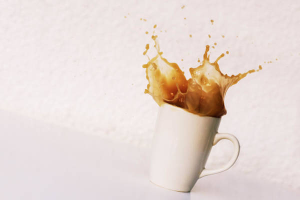 Super Cup Wall Art - Photograph - Spoon Being Dropped Into Mug Of Coffee by Matthew Fox Photography