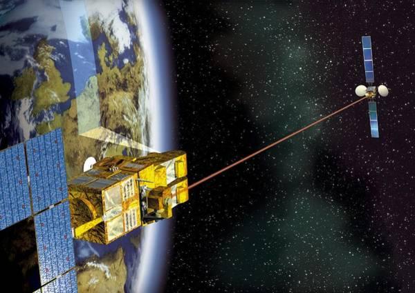 Artemis Photograph - Spot 4 And Artemis Satellites, Artwork by David Ducros