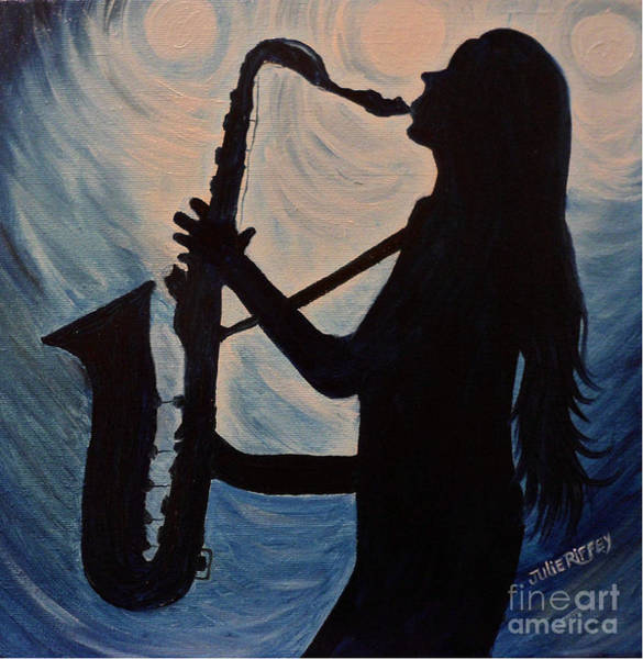 Sax Painting - Spotlight On The Blues by Julie Brugh Riffey