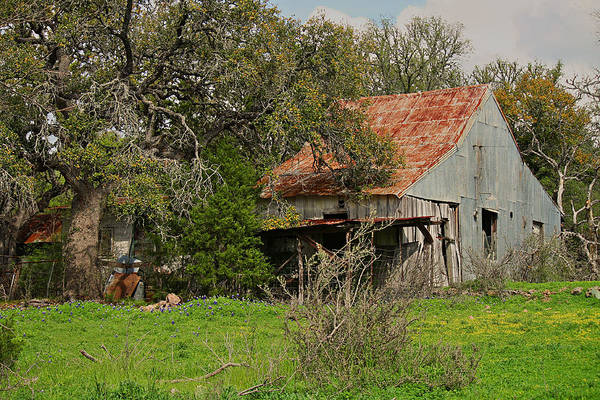 Photograph - Spring At The Old Barn by Sarah Broadmeadow-Thomas