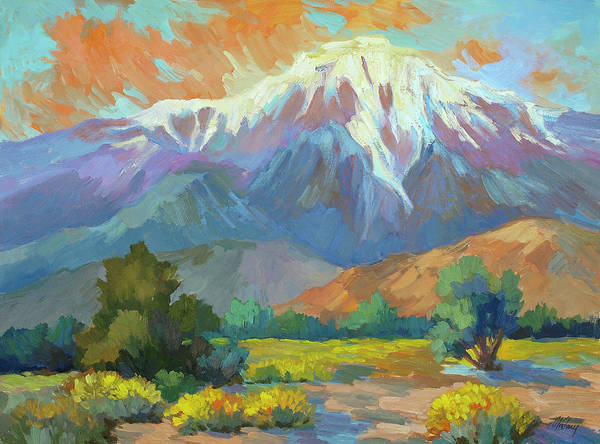 Sierra Nevada Painting - Spring At Whitewater Preserve by Diane McClary