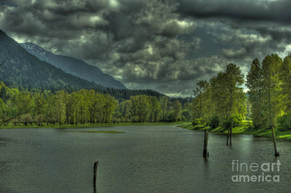 Mission Bc Photograph - Spring Clouds At The Nicomen Slough by Rod Wiens