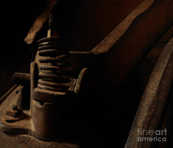 Photograph - Spring Compression - Vintage Farm Equipment Abstract by Steven Milner