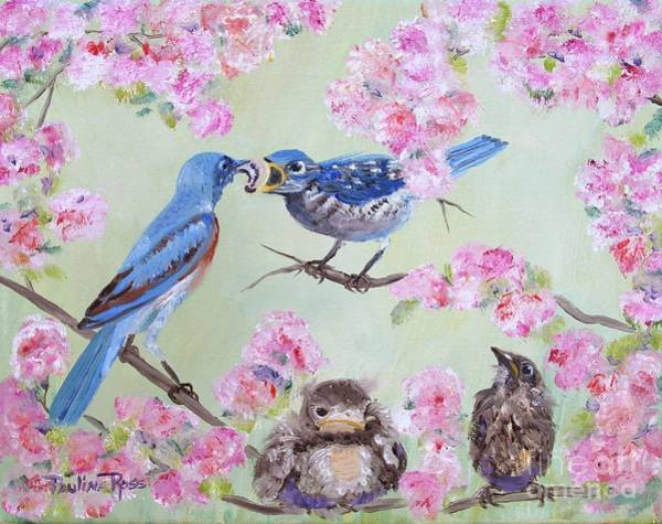 Wall Art - Painting - Spring Nursery by Pauline Ross