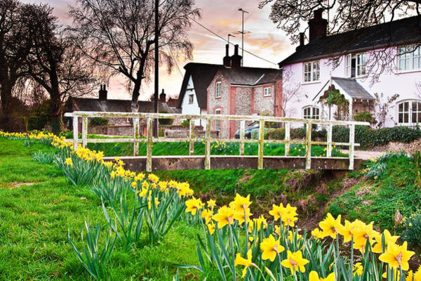 English Countryside Photograph - Spring Village by Tom Gowanlock