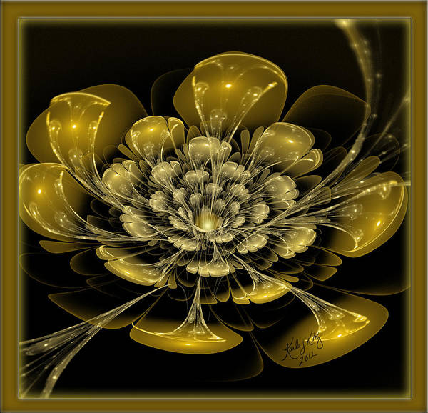 Digital Art - Spun Sugar Gold by Karla White