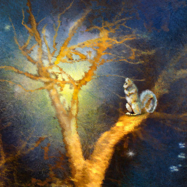 Painting - Squirrel In Austin by Miki De Goodaboom