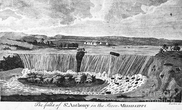 Photograph - St. Anthony Falls, 1796 by Granger