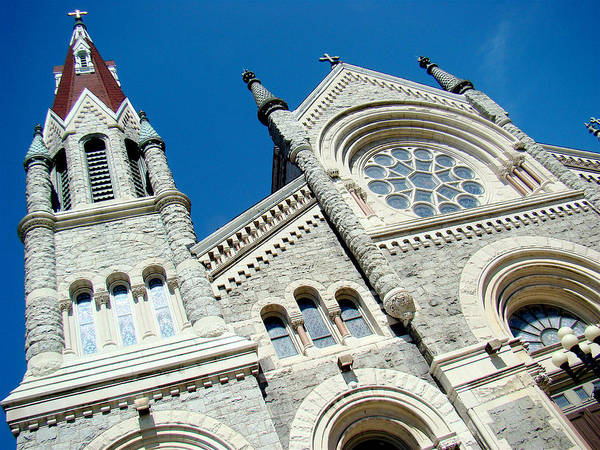 Photograph - St. Francis Xavier Church View by Alice Gipson