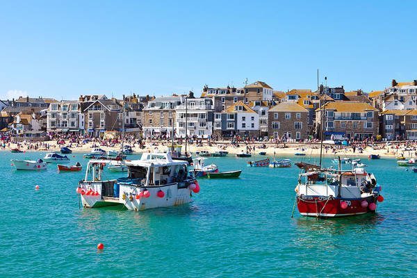 Ives Photograph - St Ives Harbour by Tom Gowanlock