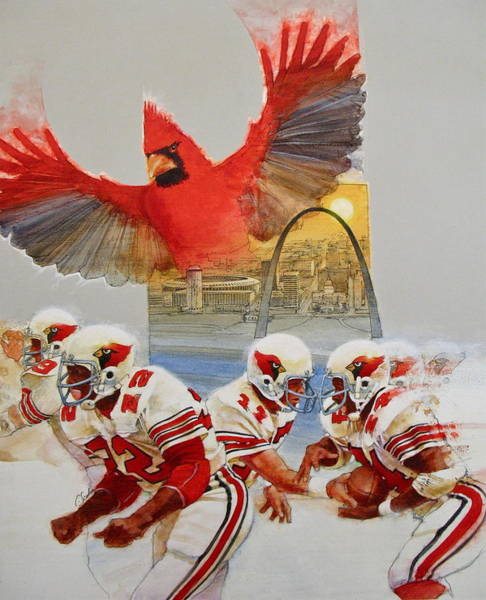 St Louis Arch Painting - St Louis Cardinals1980 Game Day Cover And Media Guide Cover by Cliff Spohn
