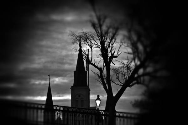 Photograph - St. Louis Cathedral At Night 1 by Jim Albritton