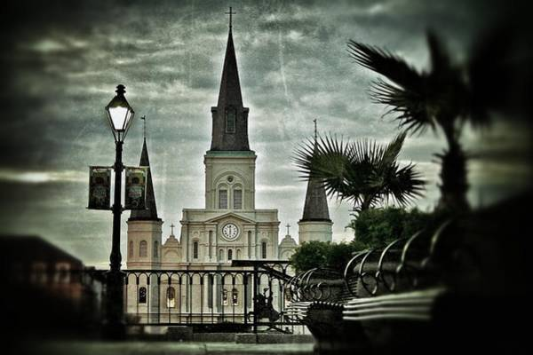 Photograph - St. Louis Cathedral by Jim Albritton