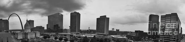 Dred Photograph - St Louis Downtown Panorama In Black And White by Tim Mulina