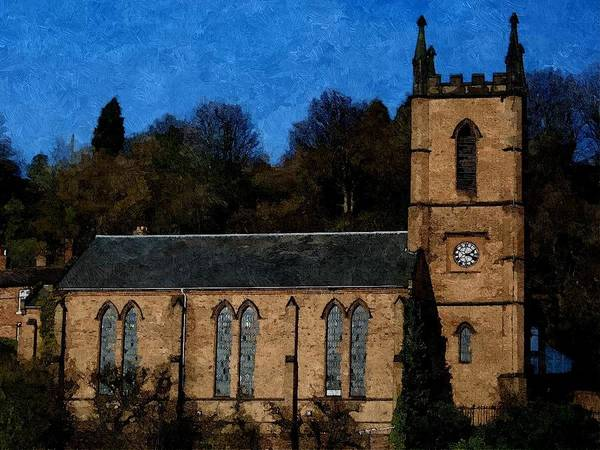 St Luke's Church Ironbridge Art Print