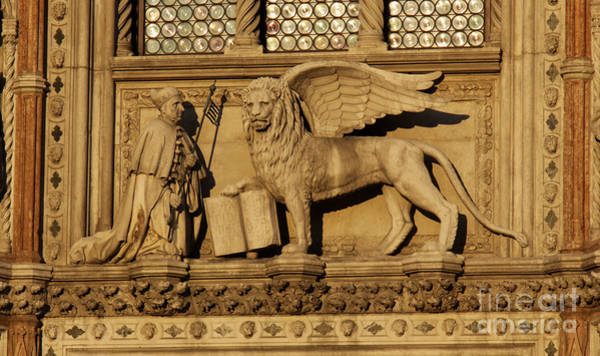 Lion Of St Mark Photograph - St. Mark The Winged Lion by Chris Hill