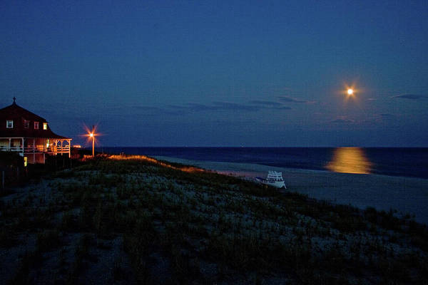 Photograph - St Mary By Moonlight by Tom Singleton