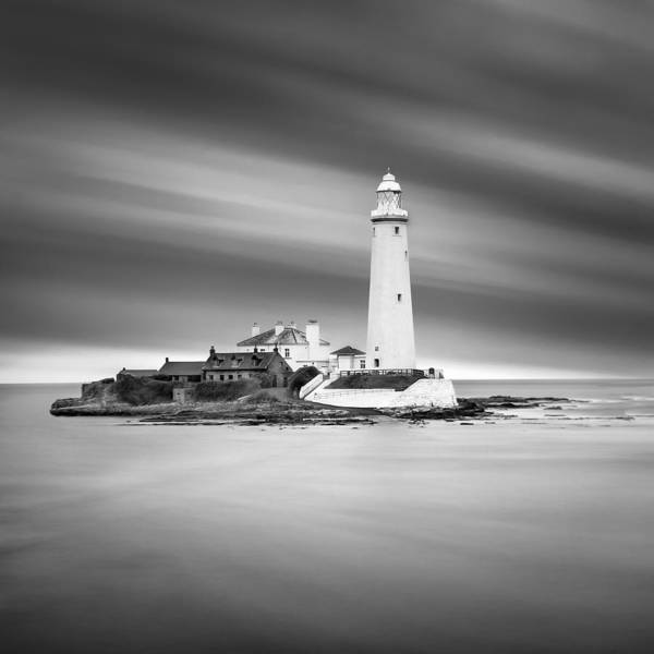 Wall Art - Photograph - St Marys Lighthouse Whitley Bay by Ian Barber