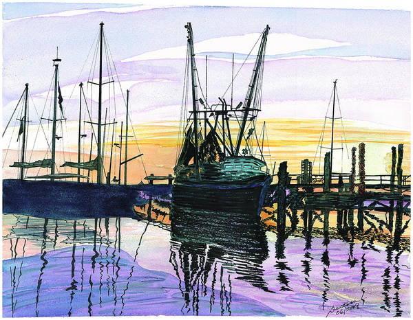 St. Marys Sunset Art Print