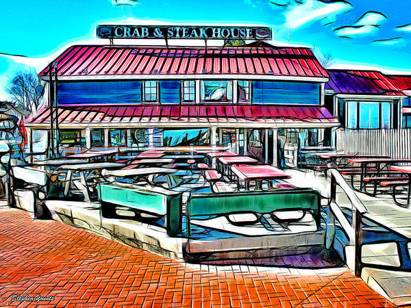 Wall Art - Digital Art - St Michaels Crab And Steak House by Stephen Younts