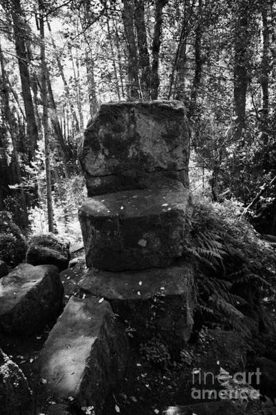 Celtic Mythology Wall Art - Photograph - St Patricks Chair Throne Altadaven Favor Royal Forest County Tyrone Northern Ireland by Joe Fox