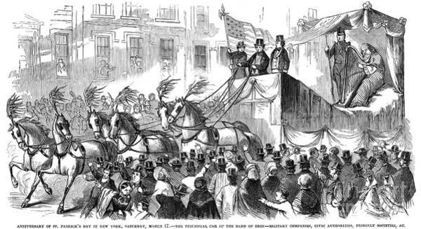 Saint Patricks Day Photograph - St. Patricks Parade, 1860 by Granger