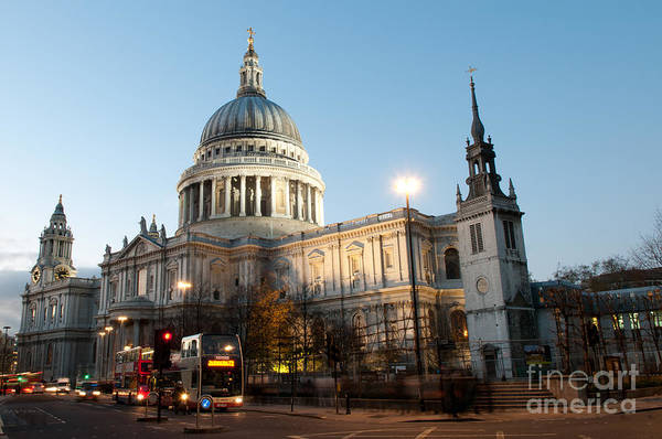 Wall Art - Photograph - St Paul's Cathedral  by Liz Pinchen