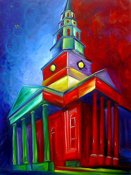 Painting - St. Phillips Church by James Christopher Hill