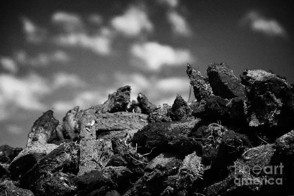 Smallholding Photograph - Stack Of Peat Turf Fuel In Ireland by Joe Fox