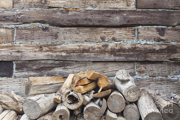 Entrada Photograph - Stacked Firewood by Bryan Mullennix