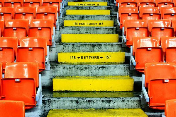 Italian Football Wall Art - Photograph - Stadium Seats by Valentino Visentini