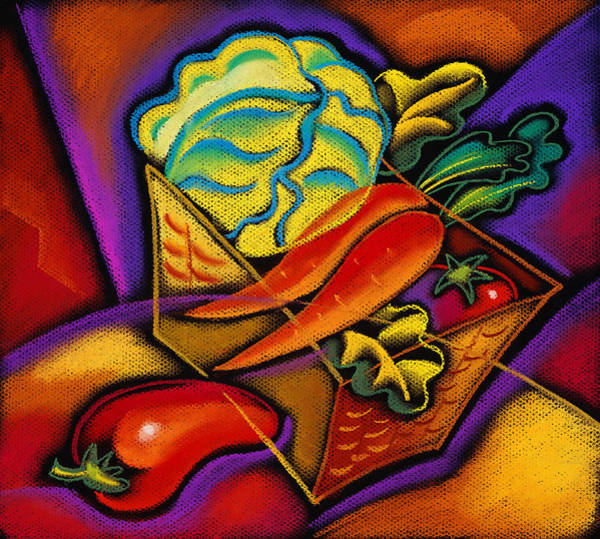 Protein Painting - Staff For Yummy Salad by Leon Zernitsky