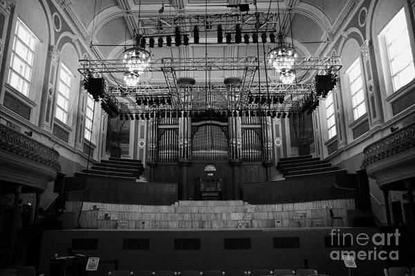 Mulholland Photograph - Stage And Mulholland Organ In The Interior Of The Newly Refurbished Ulster Hall Venue In Belfast by Joe Fox