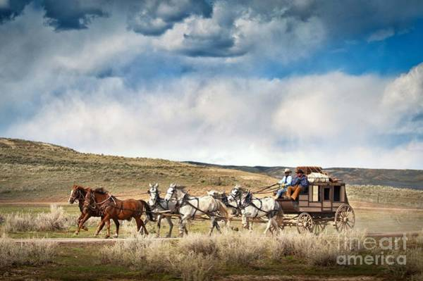 Stagecoach Photograph - Stagecoach And Big Sky Country by Heather Swan