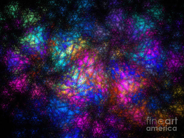 Pleasing Digital Art - Stain Glass Fractal Abstract by Andee Design