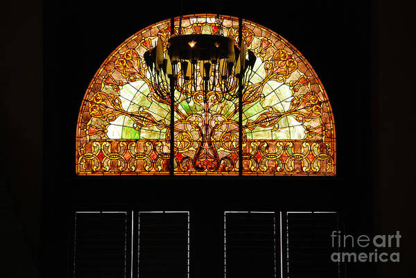 Photograph - Stained Glass In The Trainstation Nashville by Susanne Van Hulst