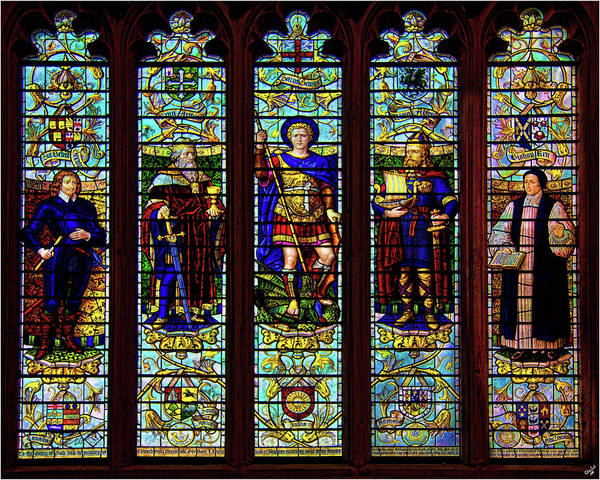 Bath Abbey Photograph - Stained Glass Window by Chris Lord