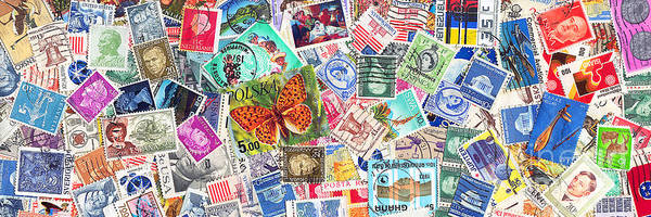 Stamp Collecting Photograph - Stamp Collection . 3 To 1 Proportion by Wingsdomain Art and Photography