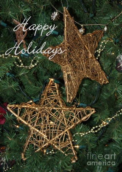 Photograph - Star Holiday Card by Sabrina L Ryan