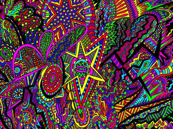 Wall Art - Painting - Star Is Born by Karen Elzinga