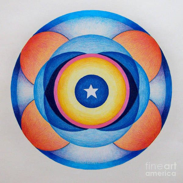 Wall Art - Drawing - Star Mandala by Brian  Commerford