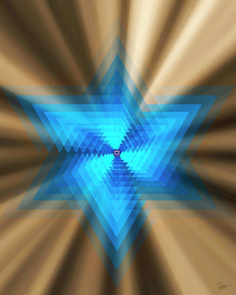Photograph - Star Of David Four by Endre Balogh