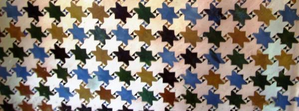 Photograph - Star Of David Tilework Jewish Motif Granada Spain by John Shiron
