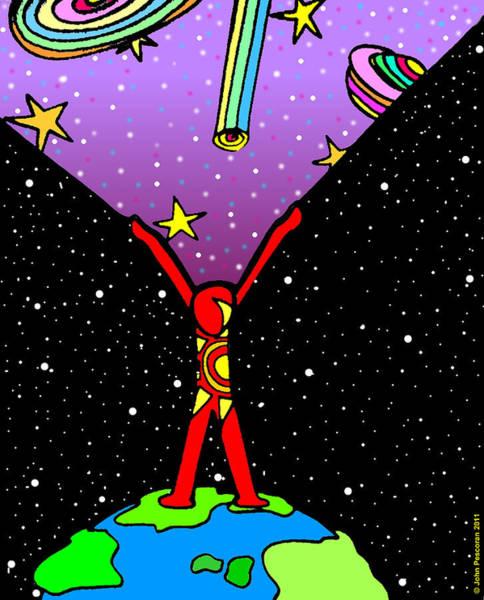 Pescoran Wall Art - Drawing - Star Shine Dreams Restored by John Pescoran