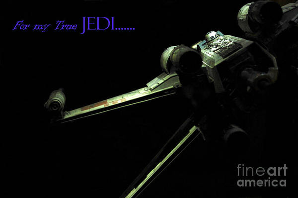 X Wing Photograph - Star Wars Jedi Card by Micah May