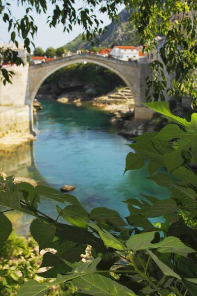 Stari Photograph - Stari Most Or Old Town Bridge Over The by Trish Punch