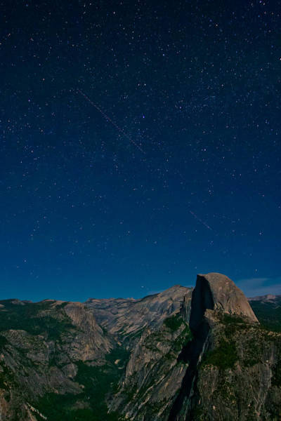 Photograph - Stars Over Half Dome by Adam Pender