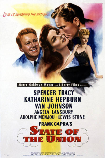 Van Johnson Photograph - State Of The Union, Poster Art, Spencer by Everett